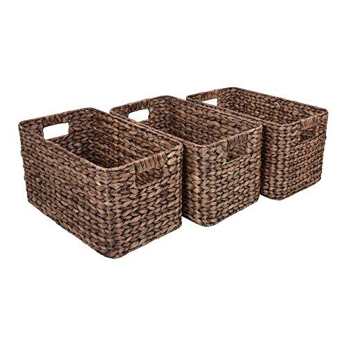 Wovenhill Set of 3 Medium Milton Brown Rattan Storage Baskets W25 x D42 x H23cm