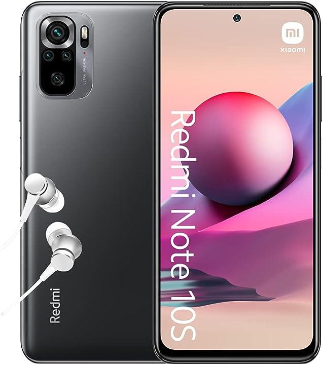 "smartphone Xiaomi redmi note 10s 6gb+64gb 6.43"" amoled dotdisplay mediatek helio g95 64mp quad camera M2101K7BNY"