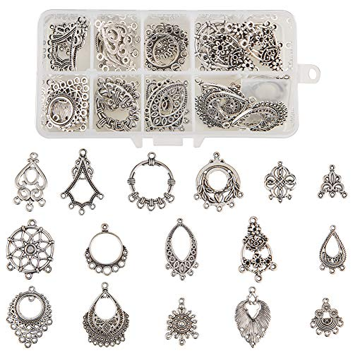 PH PandaHall 20pcs Alloy Linking Rings Drop Rings Tibetan Style Golden Components Links for Dangle Pendants Earrings Jewelry Making Key Chain