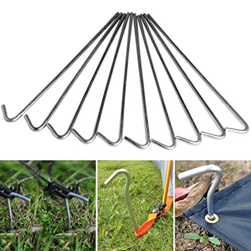 Schone producten (UK) 10 Tent Pegs- Roest & Corrosievrij- Veilige tenten, Tuinstructuren, Tarps, Netten op Plaats- Ideaal Camping Accessoire