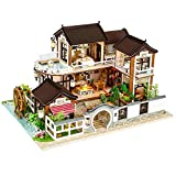 CuteBee DIY木製ドールハウス、Dream in ancient town 、ミニチュアコレクション、LEDライト、プレゼント (13848) …