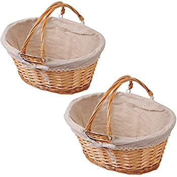 Best wicker baskets with handles Reviews