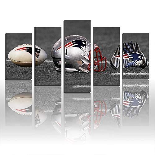 Karen Max Wandbild, Motiv: New England Patriots Fußball, Helm, Handschuhe Size1:12x16inx2,12x24inx2,12x32inx1Frame