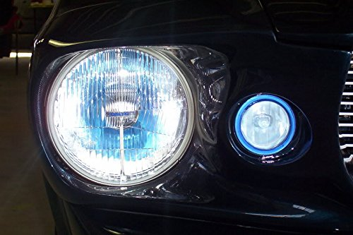 BlingLights Blue Halo Fog Lights for Ford Mustang Eleanor Shelby GT-500 Fastback