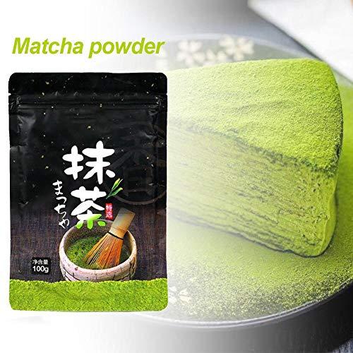steadyuf 100 g de Polvo de Matcha, té Verde orgánico de Matcha, Polvo Natural Puro de Matcha, Pastel de Helado de Chocolate, Ingredientes para Hornear en la Cocina