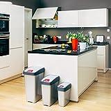 keeeper Premium Abfallbehälter mit Flip-Deckel, Soft Touch, 25 l, Magne, Graphit Grau - 7