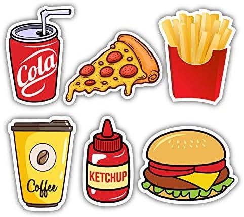 Nourish Fast Food Fridge Magnets
