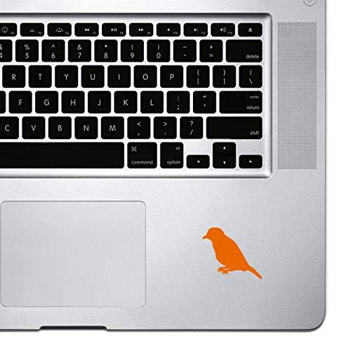 DKISEE Decal Sticker Laptop Vinyl Decal Bird on Apple Sticker voor Macbook Pro, Chromebook, en laptops 8 inch oranje