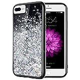 iPhone 7 Plus Glitter Case, Caka iPhone 6 Plus 6S Plus 7 Plus 8 Plus Liquid Bling Flowing Floating Luxury Sparkle Soft TPU Case for iPhone 6 Plus 6S Plus 7 Plus 8 Plus (5.5 inch) (Silver)