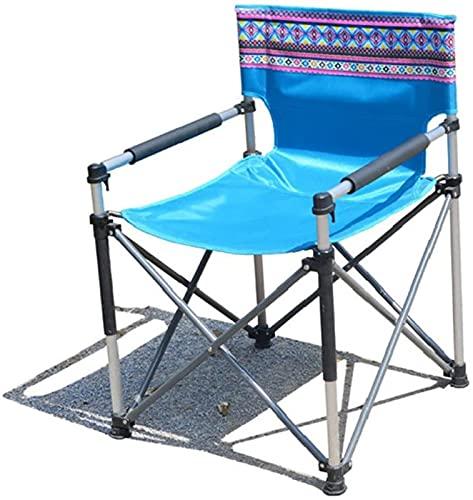 WXHHH Silla de Camping Plegable de Aluminio Ligero Sillas de Camping Plegables portátiles con portavasos Bolsa de Transporte Compacto para Viajes de Playa al Aire Libre Picnic de Pesca