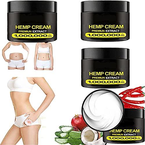 Ankep Crema para Quemar Grasa Corporal para Eliminar la Celulitis, 2021Nuevo Quemador de Grasa del Vientre de 2 Piezas para Mujeres y Hombres, Crema para Quemar Grasa (4Pcs)