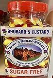 Ruibarbo y natillo sin azúcar.