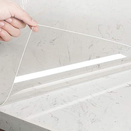KINLO Film adhésif transparent pour meubles, protection anti-éclaboussures, film de protection pour la surface de la salle de bain, cuisine, meubles, étanche, 60 x 500 cm