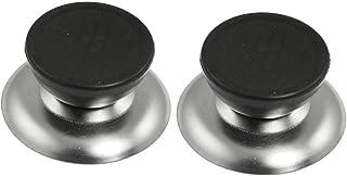 Sonline 2 x Tirador Redondo para Tapa de Olla Accesorios de Reemplazo para Cocina
