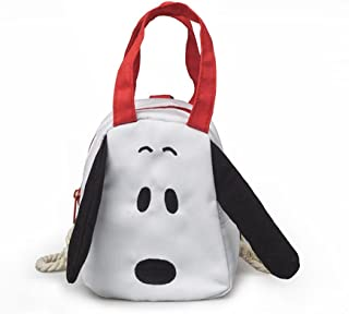 Leng QL Personality Backpacks Kindergarten Toddler Backpack Cartoon Puppy Children's Small Schoolbag(White)