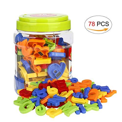 Frigorifero Magnetico Giocattoli Educativi Numeri Magnetici Lettere Magnetiche per Bambini 78 Pezzi