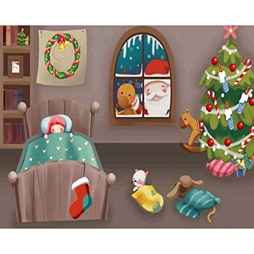 5D Diamond Painting Kit for Adults and Beginners Santa Claus DIY Diamond Painting Cross Stitch Full Drill Crystal Rhinestone Painting Embroidery for Home Wall Decorinch 30x40cm (Frameless)