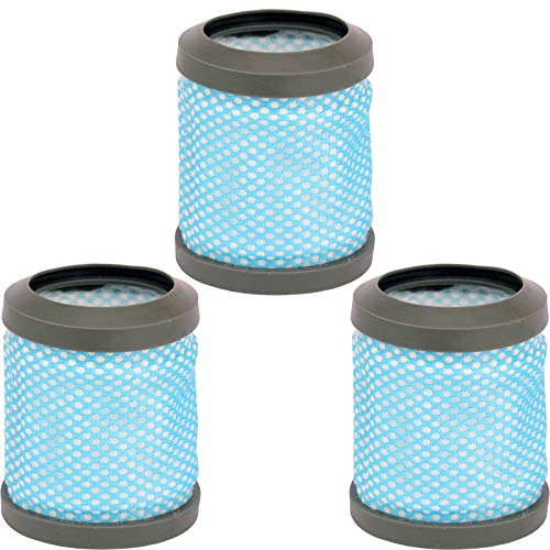 SPARES2GO Lot de 3 filtres d'échappement lavables post-moteur type T113 pour aspirateur Hoover Freedom FD22