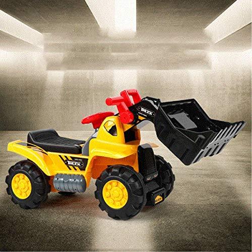 Kedorle Los niños viajan en la Excavadora Juguete Música Suena Digger Scooter Tractor Toys Bulldozer Incluye Casco con Rocas Paseo en Tractor Pretend Play Construction Truck Juguete