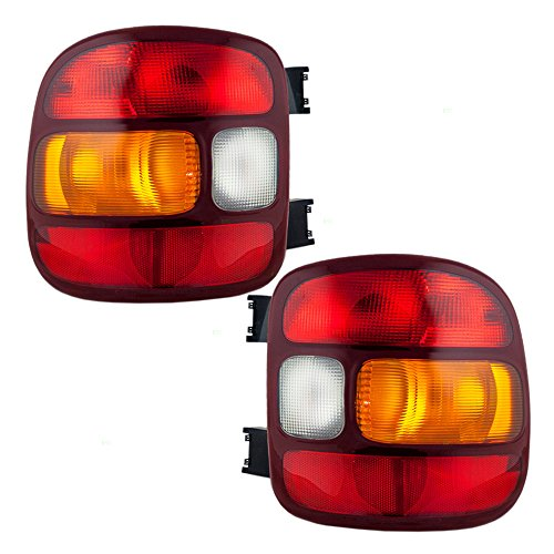 Aftermarket Replacement Driver and Passenger Set Tail Lights Compatible with 1999-2003 Silverado Sierra 1500 Stepside Pickup Truck 19169012 19169013