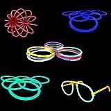 100 Knicklichter, Glow Sticks, Leuchtsticks+5 Leuchtbrille+5 Leucht...