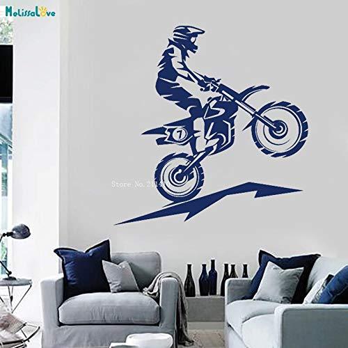ASFGA Mosaik Teen Schlafzimmer Dekoration Hobby Extremsport Wandtattoo Offroad Motorrad Graffiti Fahrrad Aufkleber einzigartige Junge Urlaub Geschenk Vinyl 70x72cm