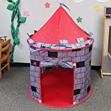 UrbanRed Kids Play Tent Knight Castle - Portable Kids Tent - Kids Pop Up Tent Foldable Into Carrying Bag - Childrens Play Tent for Indoor and Outdoor Use - Kids Playhouse Best Gift for Boys and Girls