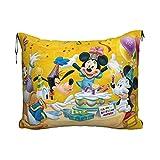 Manta portátil de viaje 2 en 1 con diseño de Mickey Mouse Minnie Party de dibujos animados