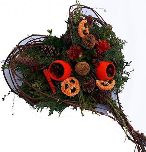 Gesteck zum Totensonntag von Flora Trans -Im Herzen bei dir- Grabgesteck Winter