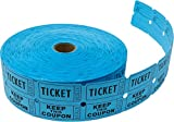 Tacticai 2000 Blue Raffle Tickets (8 Colors Available) for Events, Entry, Class Reward, Fundraiser & Prizes (Double Roll - 2' x 2' Tickets - Keep) - Made in USA