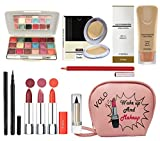 volo All In One Professional Women's Makeup Kit (3 Pcs Lipsticks,1 Eye Shadow, 1 Lip liner,1...