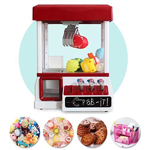 SYLTL Candy Grabber münzbetrieben Süßigkeitenautomat mit Jahrmarkt Musik Mini Greifautomat Spielzeug Rot