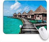 VAMIX マウスパッド 個性的 おしゃれ 柔軟 かわいい ゴム製裏面 ゲーミングマウスパッド PC ノートパソコン オフィス用 デスクマット 滑り止め 耐久性が良い おもしろいパターン (水美しいトロピカルリゾートパームトラベルアイランドパラダイスバケーションビーチホテルネイチャーリラックス)