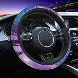 Purple Dragon Steering Wheel Cover for Women Men, Universal 15 Inch Anti Slip and Sweat Absorption Auto Car Wrap Cover, Fit Suvs, Vans, Sedans, Cars, Trucks