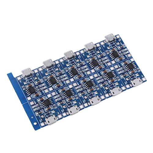 B Blesiya 10 Módulo Cargador Micro USB 5 V 1A Placa de Carga