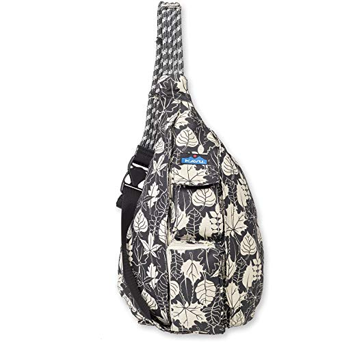 KAVU Original Rope Bag - Compact Lightweight Crossbody - BW Leaf