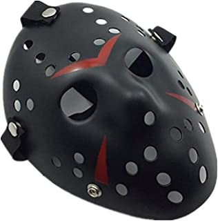 mywaxberry Halloween Festival Costume Party red and Black loftex Jason Masks