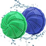 Bola Lavadora Ecológica,LLMZ 2 Pizas Lavar Pelotas De Secado,Bola Eco para Lavadora,para Todo Tipo de Lavadoras, Apto para Alérgicos,Transpirable y Suave,9.5x7.5CM