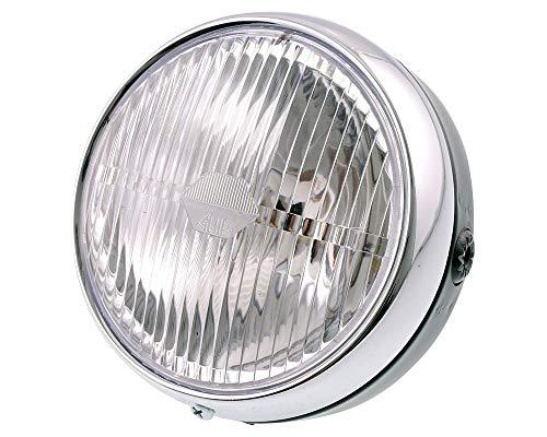 2EXTREME Scheinwerfer Lampe rund kompatibel für Hercules Prima 2 3 4 5S Mofa und Optima Moped 6v 12v