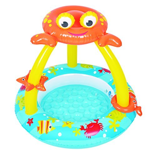 "Balance Living Crab Canopy Toddler Pool with Inflatable Toy Accessories(39"" Diameter)"