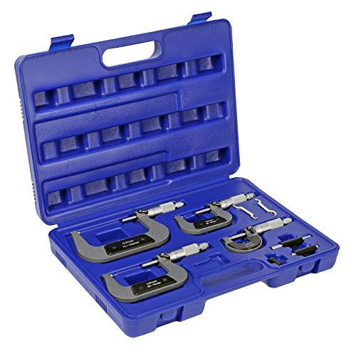 Mikrometer Satz 4-tlg 0-100mm Außen Mikrometerschraube Bügelmessschraube Set 0,01mm Messbereich