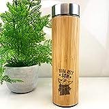 eBuyGB Taza de Viaje de bambú Personalizable, Taza de Viaje de Baby Yoda de 500 ml con temática de Star Wars, Regalo Divertido para Hijo de mamá y papá (Yoda Best Son)
