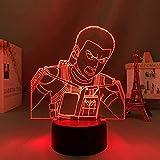 Lámpara de noche 3D anime ilusión lámpara anime lámpara de anime ataque a Titan 4 Connie Springer figura para decoración de dormitorio luz de noche niños regalo de cumpleaños shingeki no Kyojin