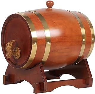 Oak Barrel, Tonneau en Chêne de 3 Litres, Véritable Tonneau en Bois Contenant une Doublure en Aluminium pour Le Stockage o...