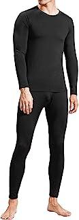 FANDIMU Mens Thermal Underwear Set Fleece Lined Top Bottom Long Johns Set Skiing Winter Warm Ultra Soft Base Layer