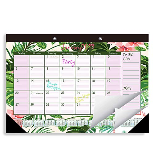 "2019 Desk or Wall Calendar Large Blotter Pad 11.5 X 17"" for Home Decor, Teacher, Office"