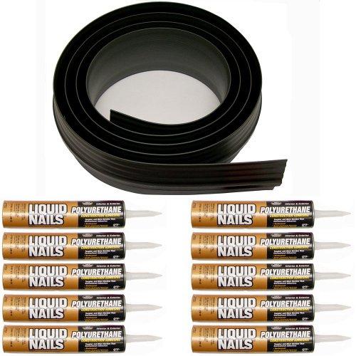 Tsunami Seal 53100 Lifetime Garage Door Threshold Seal Kit - 100', Black (Various Sizes Available)