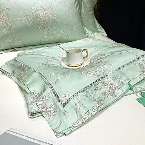 edredon nordico cama 150 4 estaciones,Luz de lujo Moledor de cuatro piezas Viento de cuatro piezas Lavado de agua llena de algodón Color sólido Tres piezas de cama-2_2.0m A-4 se establece 220 * 240 c
