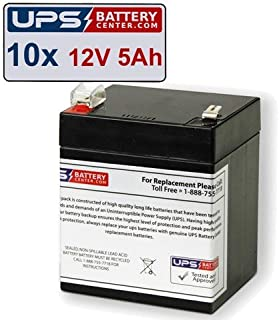 (10) 12V 5Ah F2 - HP UPS R3000 XR, R3000XR Replacement Battery Set by UPSBatteryCenter