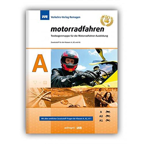 Führerschein FRAGEBOGEN KLASSE A, Immer Aktuell ! Zusätzlich zum Kl. A-Buch vom VVR Verlag bestens geeignet